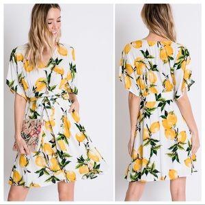 Delilah Loves Lemons Botanical Dress